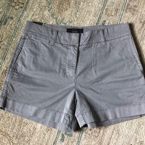 "J. Crew 4"" chino shorts in grey"